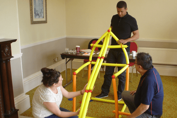 Team building for sales people is a hands-on affair!