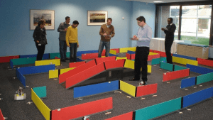 Mapping the maze in this high tech team building option