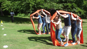 Caterpillar Alley is always a favourite and show collaborative team building at its best