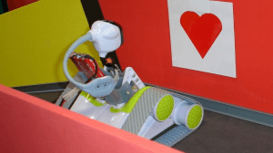 Our high tech tecm building robots love their maze!